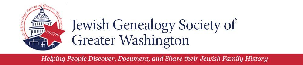 Jewish Genealogy Society of Greater Washington, Inc.